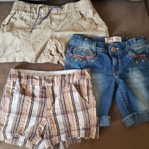 3 pair of girls shorts